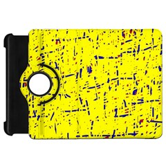 Yellow summer pattern Kindle Fire HD Flip 360 Case