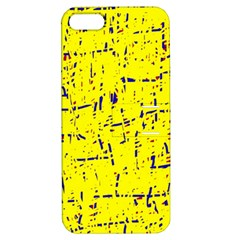 Yellow summer pattern Apple iPhone 5 Hardshell Case with Stand