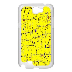 Yellow summer pattern Samsung Galaxy Note 2 Case (White)