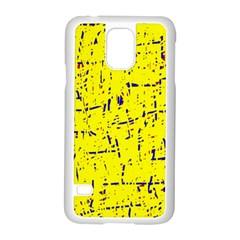 Yellow summer pattern Samsung Galaxy S5 Case (White)