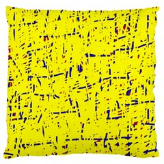 Yellow summer pattern Large Flano Cushion Case (Two Sides)