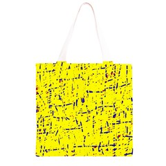 Yellow summer pattern Grocery Light Tote Bag