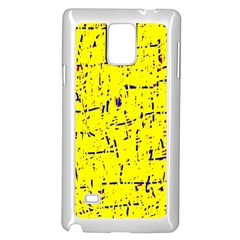 Yellow summer pattern Samsung Galaxy Note 4 Case (White)