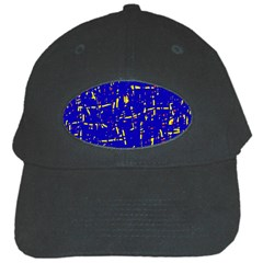 Blue pattern Black Cap