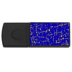 Blue pattern USB Flash Drive Rectangular (4 GB)
