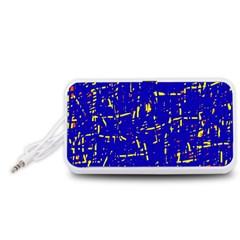 Blue pattern Portable Speaker (White)