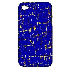 Blue pattern Apple iPhone 4/4S Hardshell Case (PC+Silicone)