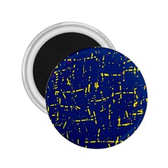 Deep blue and yellow pattern 2.25  Magnets