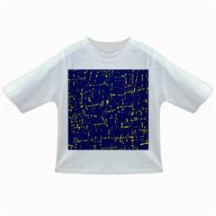 Deep blue and yellow pattern Infant/Toddler T-Shirts