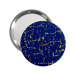 Deep blue and yellow pattern 2.25  Handbag Mirrors