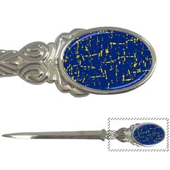 Deep blue and yellow pattern Letter Openers