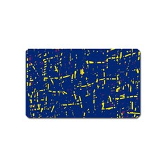 Deep blue and yellow pattern Magnet (Name Card)