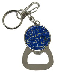 Deep blue and yellow pattern Bottle Opener Key Chains