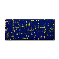Deep blue and yellow pattern Hand Towel