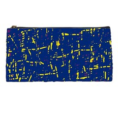 Deep blue and yellow pattern Pencil Cases