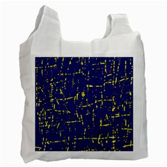 Deep blue and yellow pattern Recycle Bag (Two Side)