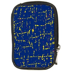 Deep blue and yellow pattern Compact Camera Cases