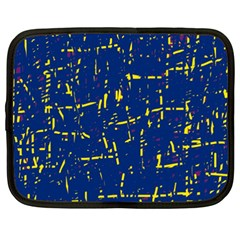 Deep blue and yellow pattern Netbook Case (XXL)