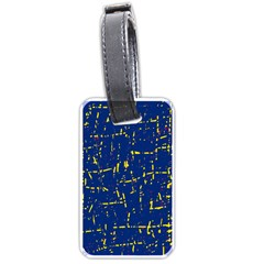 Deep blue and yellow pattern Luggage Tags (Two Sides)