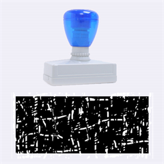 Deep blue and yellow pattern Rubber Stamps (Large)