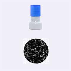 Deep blue and yellow pattern Rubber Round Stamps (Small)