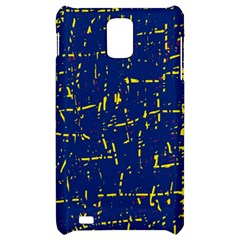 Deep blue and yellow pattern Samsung Infuse 4G Hardshell Case