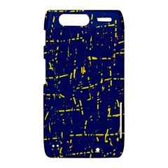 Deep blue and yellow pattern Motorola Droid Razr XT912