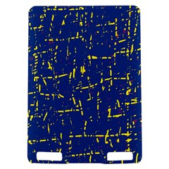Deep blue and yellow pattern Kindle Touch 3G