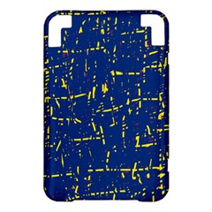 Deep blue and yellow pattern Kindle 3 Keyboard 3G