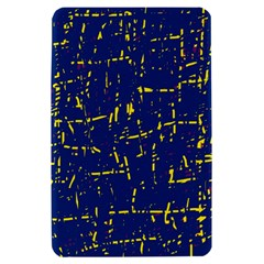 Deep blue and yellow pattern Kindle Fire (1st Gen) Hardshell Case