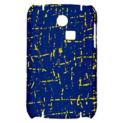 Deep blue and yellow pattern Samsung S3350 Hardshell Case