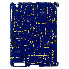 Deep blue and yellow pattern Apple iPad 2 Hardshell Case (Compatible with Smart Cover)