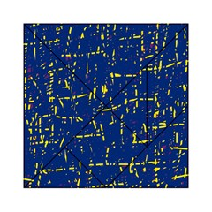 Deep blue and yellow pattern Acrylic Tangram Puzzle (6  x 6 )