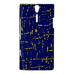 Deep blue and yellow pattern Sony Xperia S