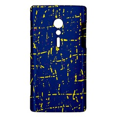 Deep blue and yellow pattern Sony Xperia ion