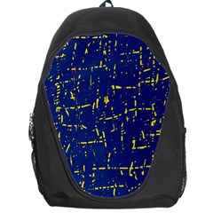Deep blue and yellow pattern Backpack Bag