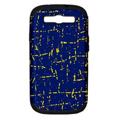 Deep blue and yellow pattern Samsung Galaxy S III Hardshell Case (PC+Silicone)