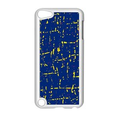Deep blue and yellow pattern Apple iPod Touch 5 Case (White)