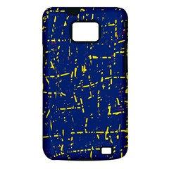 Deep blue and yellow pattern Samsung Galaxy S II i9100 Hardshell Case (PC+Silicone)