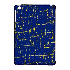 Deep blue and yellow pattern Apple iPad Mini Hardshell Case (Compatible with Smart Cover)