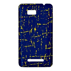 Deep blue and yellow pattern HTC One SU T528W Hardshell Case