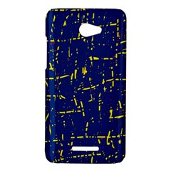 Deep blue and yellow pattern HTC Butterfly X920E Hardshell Case