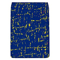 Deep blue and yellow pattern Flap Covers (L)