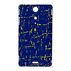 Deep blue and yellow pattern Sony Xperia TX
