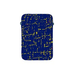 Deep blue and yellow pattern Apple iPad Mini Protective Soft Cases