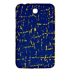 Deep blue and yellow pattern Samsung Galaxy Tab 3 (7 ) P3200 Hardshell Case