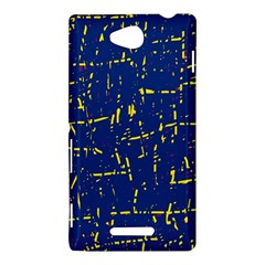 Deep blue and yellow pattern Sony Xperia C (S39H)