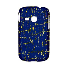 Deep blue and yellow pattern Samsung Galaxy S6310 Hardshell Case
