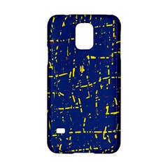 Deep blue and yellow pattern Samsung Galaxy S5 Hardshell Case