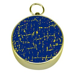 Deep blue and yellow pattern Gold Compasses